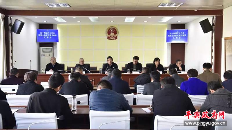平舆县十四届人大代表视察全县重点项目建设汇报会召开