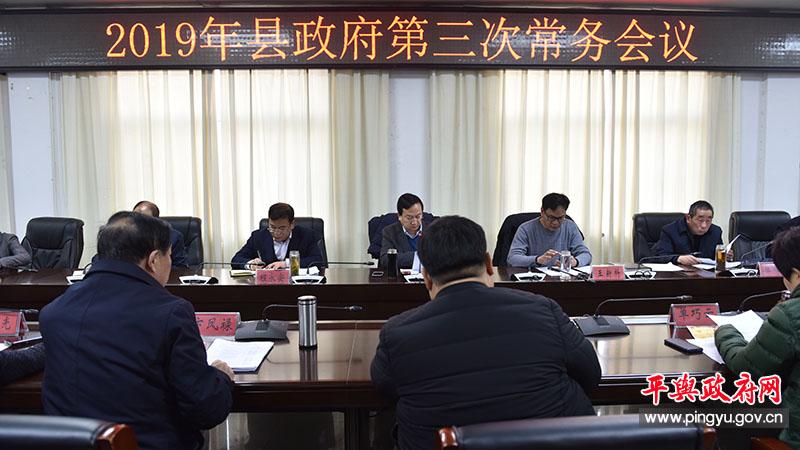 2019年平舆县政府第三次常务会议召开