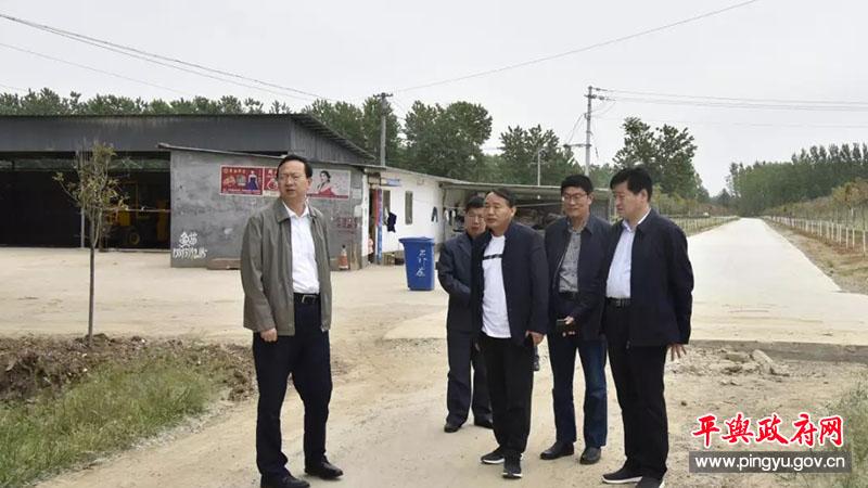 平舆县委副书记、县长赵峰到部分乡镇调研乡村道路建设情况