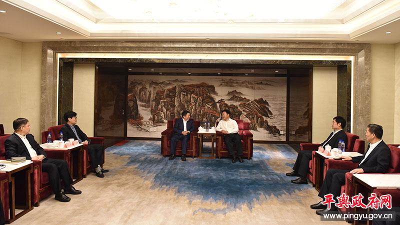 市委书记陈星会见浙江泰普森集团董事长杨宝庆