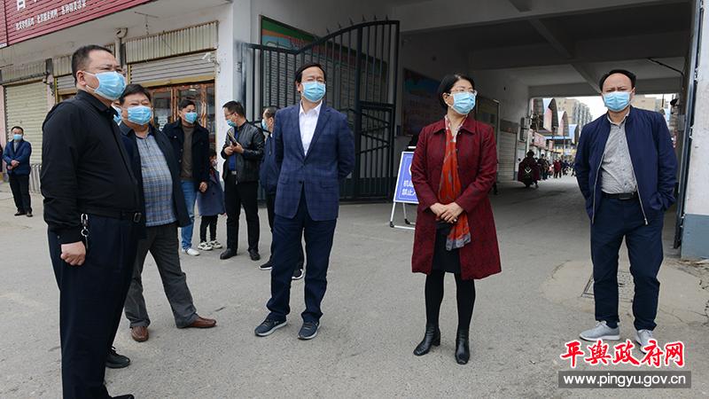 平舆县委副书记、县长赵峰调研指导文明城市创建工作
